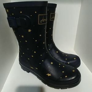 Molly Welly joules Navy star size 7